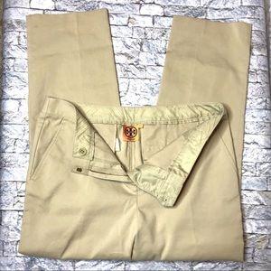 Tory Burch Pants - Tory Burch Straight Leg Khaki Trouser